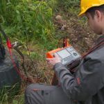 Using clamp on electric pylon for earth resistance measurement