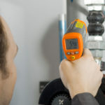 Measure piping IR Thermometer or pyrometer