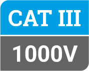 Safety Rating Cat III at 1000V label