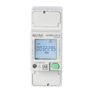 UEM80 Algodue 80A 2 phase energy meter front view